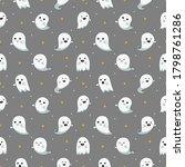 happy halloween cute ghost... | Shutterstock .eps vector #1798761286