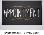 the word appointment written on ... | Shutterstock . vector #179876354