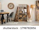 Stylish Room Interior With...