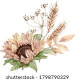 watercolor floral bouquet....   Shutterstock . vector #1798790329
