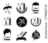Barber shop set. Vector