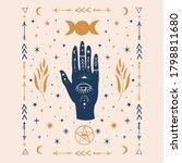 hamsa hands graphic... | Shutterstock .eps vector #1798811680