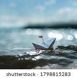 Small Paper Boat   Big Wave