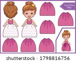 3d a paper doll. ornament for... | Shutterstock .eps vector #1798816756