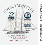classic yacht club sailing...   Shutterstock .eps vector #1798819699