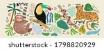 abstract jungle  vector... | Shutterstock .eps vector #1798820929