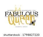 fabulous queen slogan text  ... | Shutterstock .eps vector #1798827220