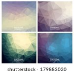 set of vector abstract... | Shutterstock .eps vector #179883020