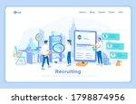 recruitment  human resources....   Shutterstock .eps vector #1798874956