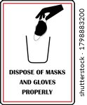 dispose of masks and gloves... | Shutterstock .eps vector #1798883200