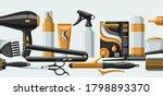barbershop seamless pattern...   Shutterstock .eps vector #1798893370