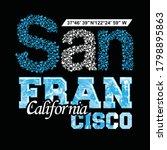 san francisco.vintage and... | Shutterstock .eps vector #1798895863