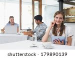 smiling young woman using...   Shutterstock . vector #179890139