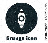 Grunge Kayak And Paddle Icon...