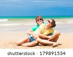 happy young couple in... | Shutterstock . vector #179891534