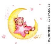 Cute Cartoon Teddy Bear...
