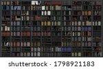 large bookshelf in the library... | Shutterstock .eps vector #1798921183