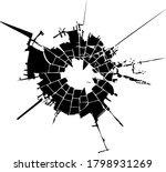broken glass  cracks  bullet...   Shutterstock .eps vector #1798931269