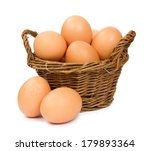 Photo Of Basket With Eggs...