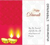 diwali is festival of joy | Shutterstock . vector #1798969660