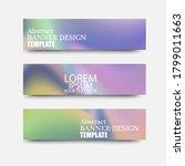 set of colored liquid wave... | Shutterstock .eps vector #1799011663