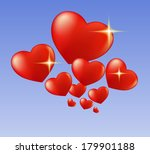 hearts and sparks | Shutterstock .eps vector #179901188