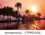 Sunrise Over The Backwaters In...