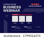 invitation banner to the online ... | Shutterstock .eps vector #1799016373