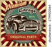 vintage garage retro poster | Shutterstock .eps vector #179902064