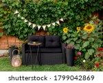 Black Modern Polyrotang Garden ...