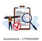 task done vector illustration.... | Shutterstock .eps vector #1799050309