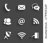 modern communication signs and...   Shutterstock . vector #179905169