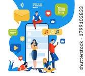 the flow of entertainment.... | Shutterstock .eps vector #1799102833