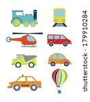 transport  design flat over... | Shutterstock .eps vector #179910284