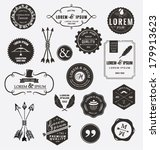 set of quality design elements. ... | Shutterstock .eps vector #179913623