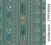 ancient egyptian motifs... | Shutterstock .eps vector #1799140066