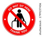 Do Not Sit Here For Keep Social ...