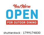 open for outdoor dining vector... | Shutterstock .eps vector #1799174830