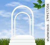 white scene mockup minimal... | Shutterstock .eps vector #1799177206
