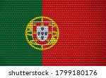 abstract flag of portugal made... | Shutterstock .eps vector #1799180176