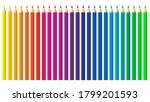 colored pencils  crayons set ...   Shutterstock .eps vector #1799201593