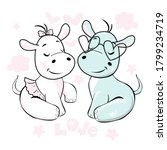 couple hippos and the...   Shutterstock .eps vector #1799234719