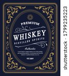 vintage border label retro hand ... | Shutterstock .eps vector #1799235223