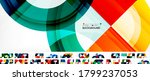 set of round shapes abstract... | Shutterstock .eps vector #1799237053