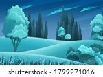 grasses  stems  spacious meadow ... | Shutterstock .eps vector #1799271016