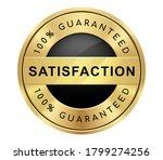 100  satisfaction guaranteed... | Shutterstock .eps vector #1799274256