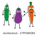 cartoon vegetables isolated on... | Shutterstock . vector #1799280283