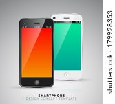 smartphones design concept...
