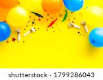 flat lay with ballons   party... | Shutterstock . vector #1799286043