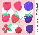 bright vector berries isolated... | Shutterstock .eps vector #1799309449